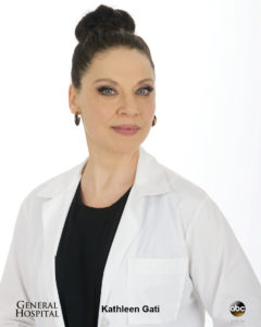 Actress Kathleen Gati as ABC's General Hospital's Dr. Liesl Obrecht