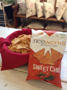Riceworks chips (Sweet Chili Flavor) Photo by Chantal Kellerd